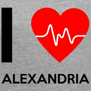I Love Alexandria - I love Alexandria - Women's T-shirt with rolled up sleeves