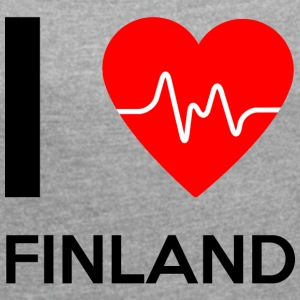 I Love Finland - I Love Finland - Women's T-shirt with rolled up sleeves