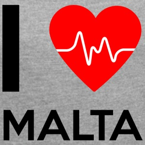 I Love Malta - I Love Malta - Women's T-shirt with rolled up sleeves