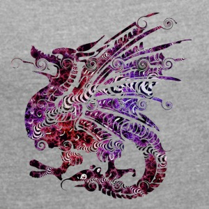 New Dragon - Women's T-shirt with rolled up sleeves