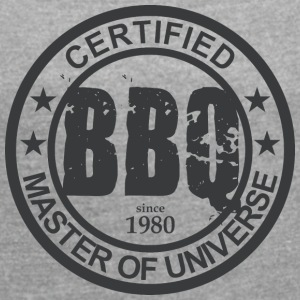 Certified BBQ Master 1980 Grillmeister - Women's T-shirt with rolled up sleeves