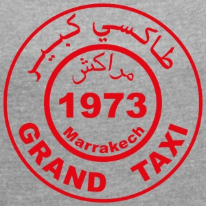 Grand taxi Marrakech - T-skjorte med rulleermer for kvinner