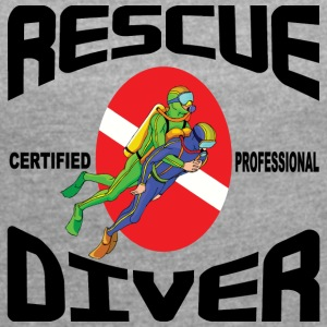 SCUBA Rescue Diver - Women's T-shirt with rolled up sleeves