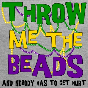 Throw Me Some Beads - Women's T-shirt with rolled up sleeves