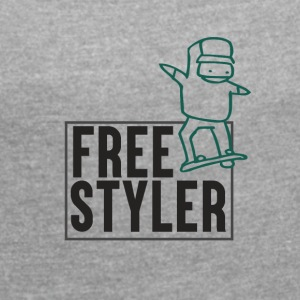 Free Styler - Women's T-shirt with rolled up sleeves