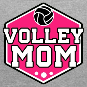 Volleyball Mom - Women's T-shirt with rolled up sleeves