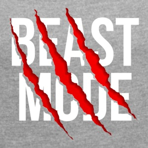 Beast Mode - Women's T-shirt with rolled up sleeves