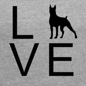 Dog Love 2 - Women's T-shirt with rolled up sleeves