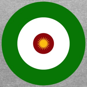 Kurdish flag - Women's T-shirt with rolled up sleeves