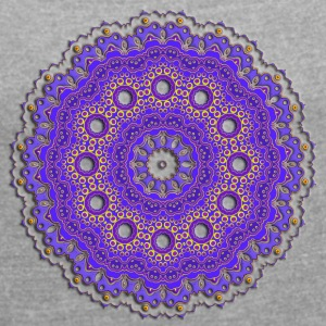 Mandala - Women's T-shirt with rolled up sleeves
