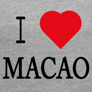 I Love Macau - Women's T-shirt with rolled up sleeves