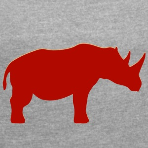 Real Rino - Women's T-shirt with rolled up sleeves