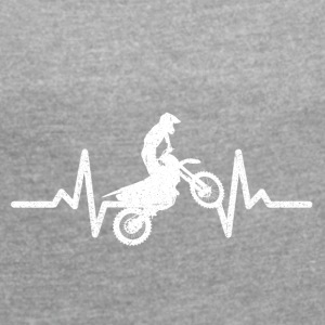 Motocross is the coolest! - Women's T-shirt with rolled up sleeves
