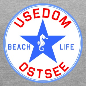 Usedom_Seepferd - Women's T-shirt with rolled up sleeves