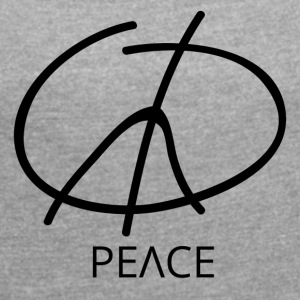 Peace Symbol - Peace Sign - Women's T-shirt with rolled up sleeves