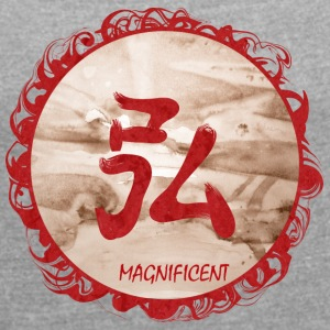 magnificent - Women's T-shirt with rolled up sleeves