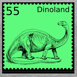 Dino Land Stamp - Women's T-shirt with rolled up sleeves