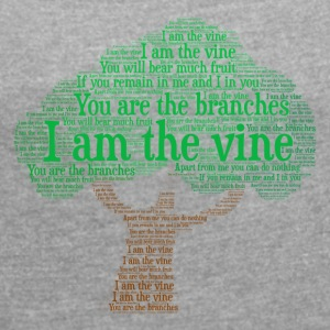 I Am The Vine from Jesus Teaching - Women's T-shirt with rolled up sleeves