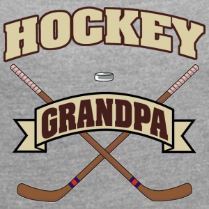 Hockey Grandpa - Women's T-shirt with rolled up sleeves