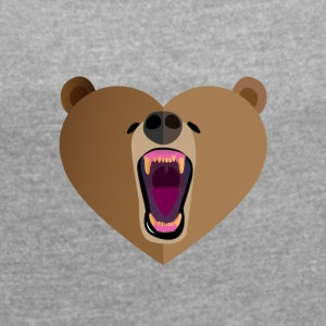 Grizzly Love - Women's T-shirt with rolled up sleeves