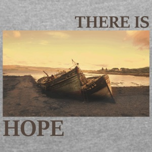 There_is_hope_natural_colour - Vrouwen T-shirt met opgerolde mouwen
