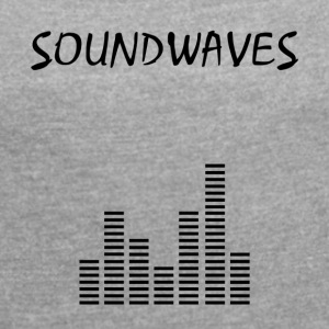 Soundwaves - spectrum - Women's T-shirt with rolled up sleeves