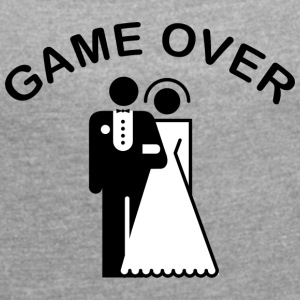 Game Over Just Married - T-shirt Femme à manches retroussées