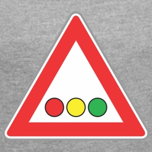 Road Sign lights - Women's T-shirt with rolled up sleeves