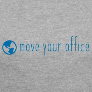 The official move your office Logo Shirt - Women's T-shirt with rolled up sleeves