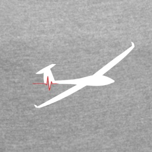 heartbeat glider - Women's T-shirt with rolled up sleeves
