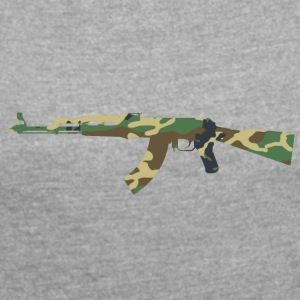 AK47 Camouflage - Women's T-shirt with rolled up sleeves