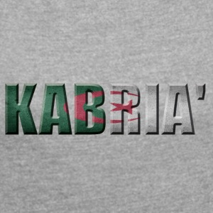 KABRIA ALGERIAN PROUD ALGERIA - Women's T-shirt with rolled up sleeves