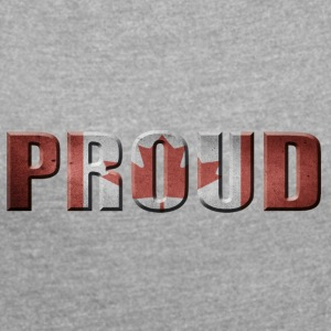 PROUD CANADA CANADA PROUD - Women's T-shirt with rolled up sleeves