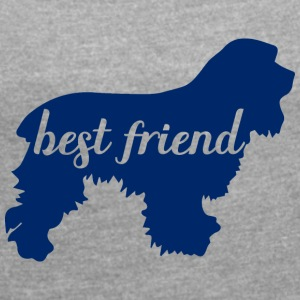 Dog / Cocker Spaniel: Best Friend - Women's T-shirt with rolled up sleeves