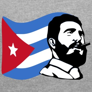 fidel castro stencil - Women's T-shirt with rolled up sleeves