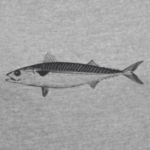 Mackerel - Women's T-shirt with rolled up sleeves
