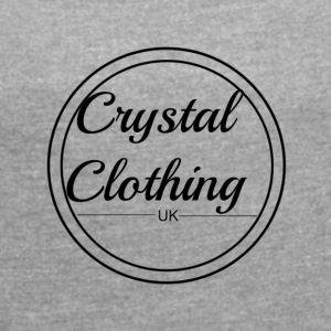 Crystal Clothing Logo - Women's T-shirt with rolled up sleeves