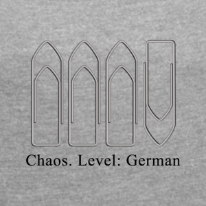 chaos - Women's T-shirt with rolled up sleeves