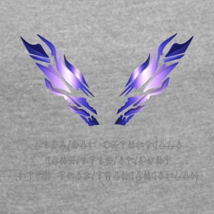 Epic Wings - Women's T-shirt with rolled up sleeves