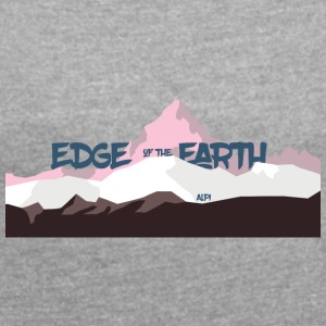 The_Edge_of_the_Earth - Women's T-shirt with rolled up sleeves
