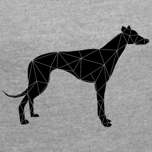 greyhound - Women's T-shirt with rolled up sleeves