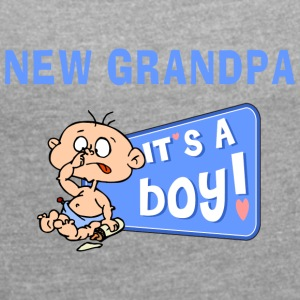 New Grandpa Personalize with Date or Name - Women's T-shirt with rolled up sleeves
