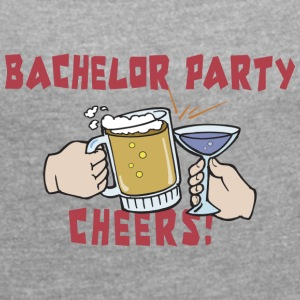 Bachelor Party Drinking - Women's T-shirt with rolled up sleeves