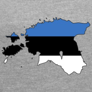 estonia - Women's T-shirt with rolled up sleeves