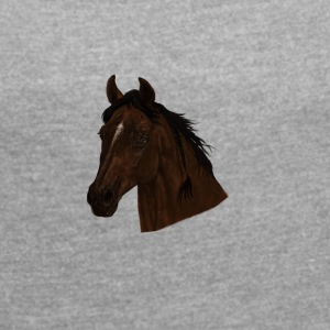 horse - Women's T-shirt with rolled up sleeves