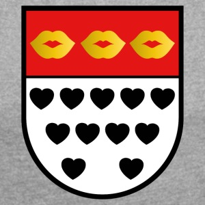 Kölsches crest for lovers colorful - Women's T-shirt with rolled up sleeves