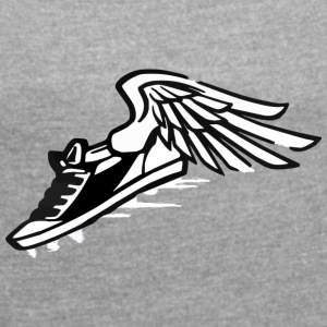flying sneaker - Women's T-shirt with rolled up sleeves