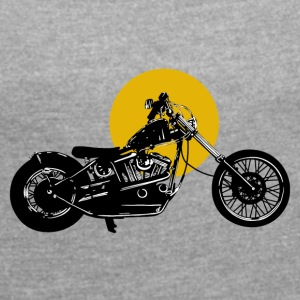 Bike · LogoArt - Women's T-shirt with rolled up sleeves