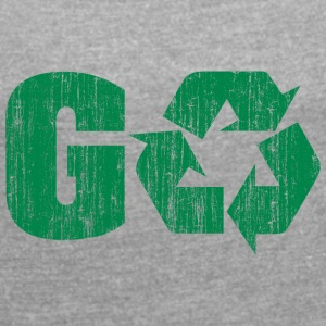 Earth Day Recycle Go Green - Frauen T-Shirt mit gerollten Ärmeln