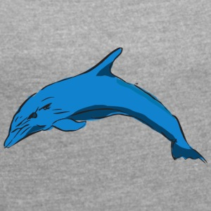 Dolphin - Women's T-shirt with rolled up sleeves
